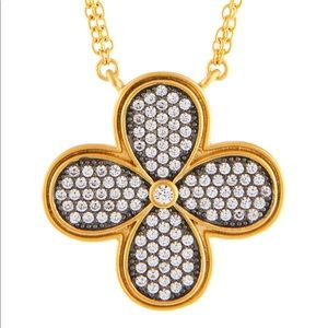 Freida Rothman Jewelry - 🔥Weekend Sale🔥14k Gold/ Sterling Pave Necklace